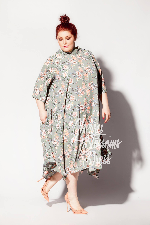 Cherry Blossoms Dresses Plus Size Maxi Dress Plus Size Floral