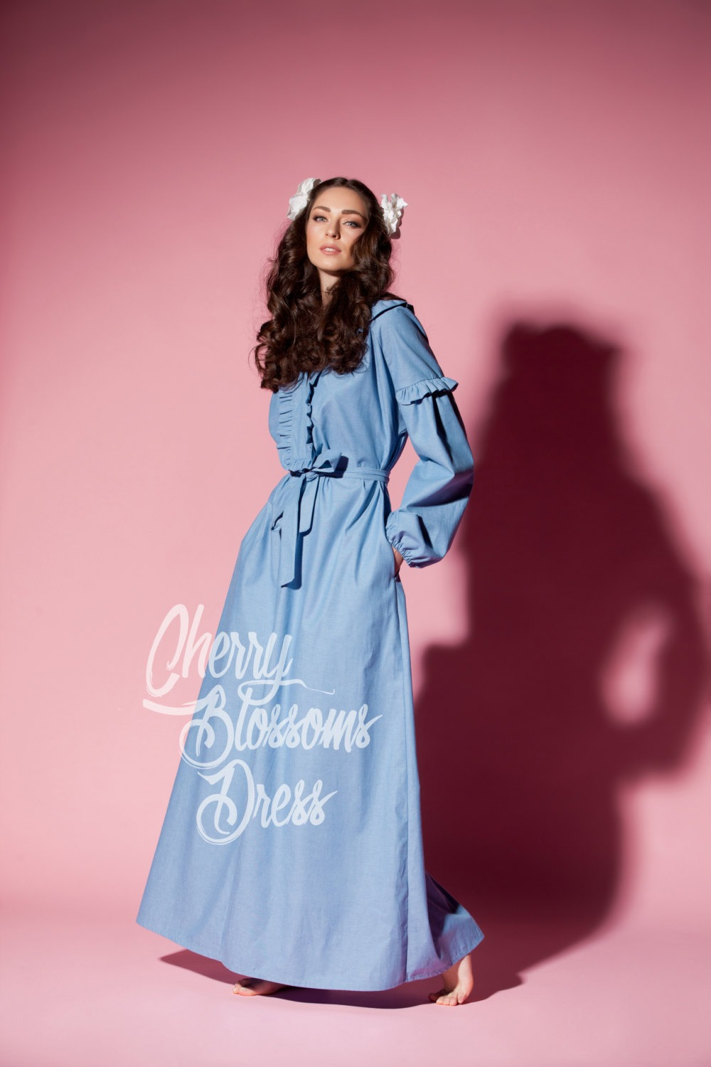 73c55bd9129 Denim dress  Blue Maxi dress  Long dress  Maxi dress with sleeves  Maxi  dress boho  Plus size dress  Maxi dress summer  Long sleeve dress
