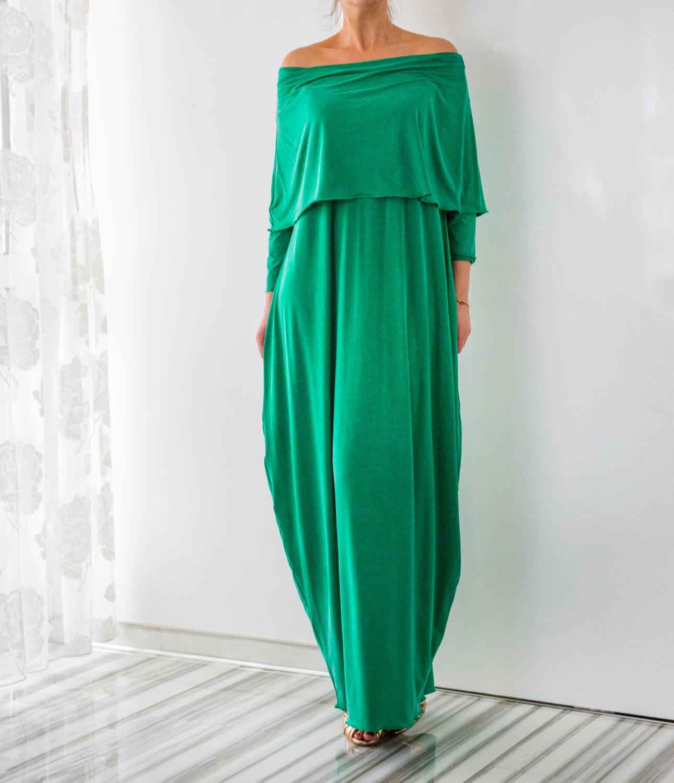 Cherry Blossoms Dresses   Green Maxi dress, Boho Dress, Plus size ...