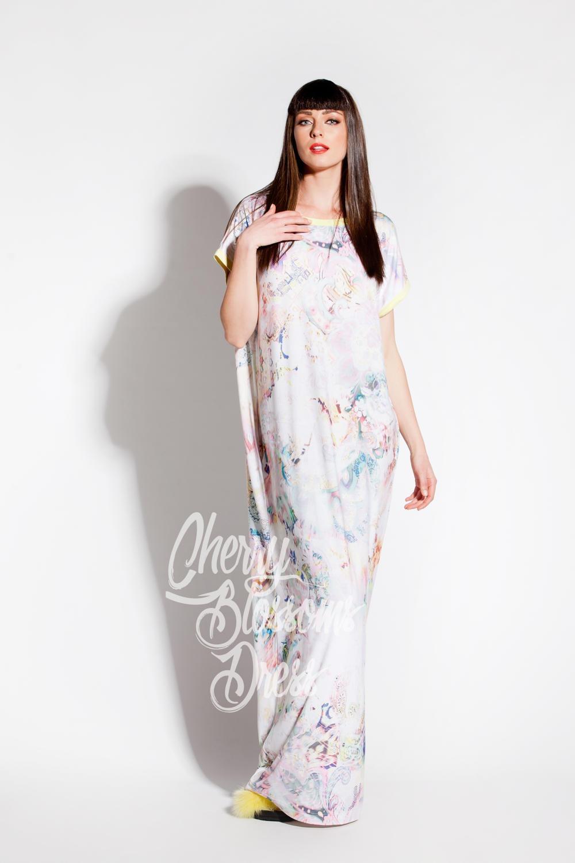 Cherry Blossoms Dresses | White maxi dress/ Caftan/ Maxi dress ...