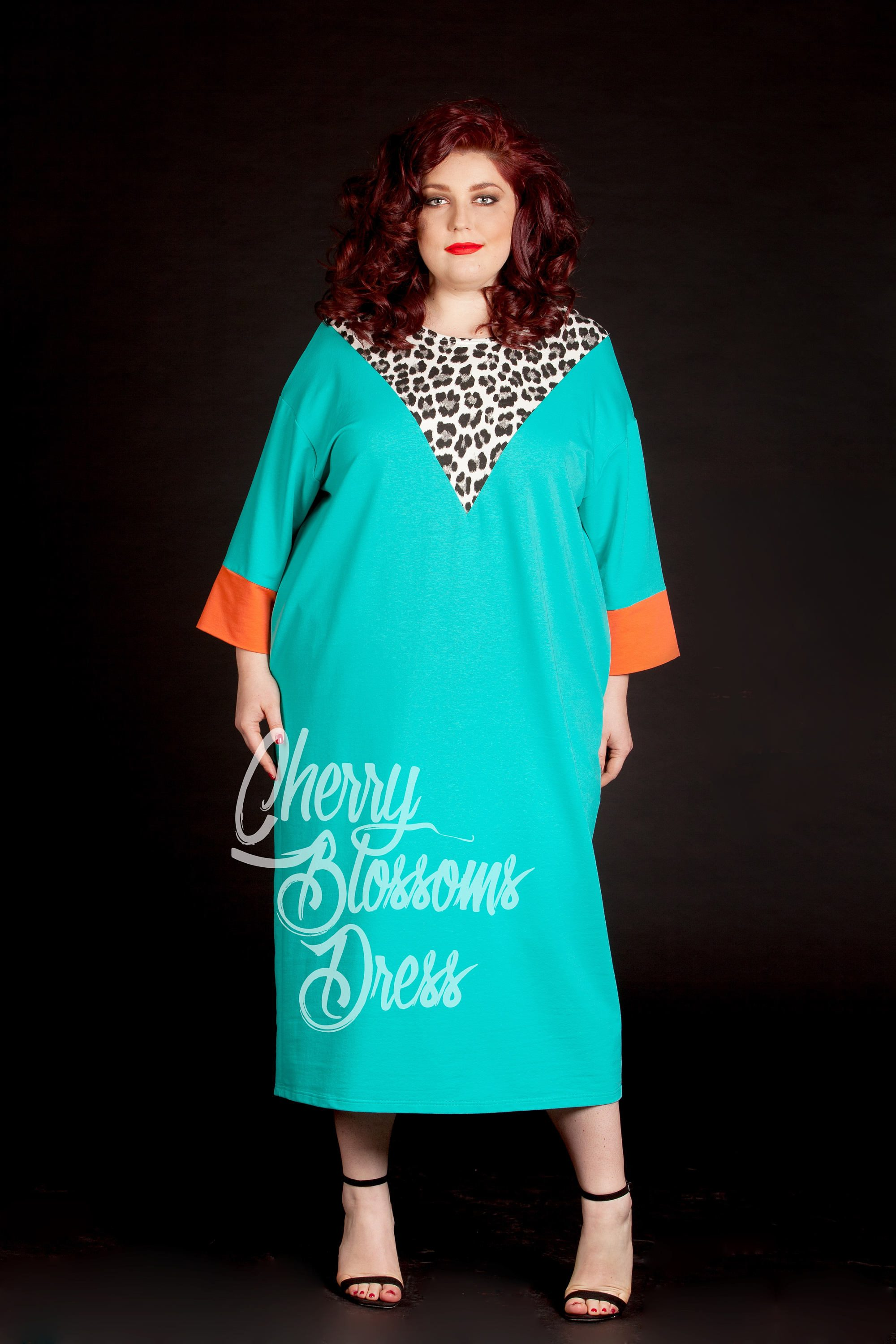 Plus size Extravagant Mint Maxi Dress | Cherry Blossoms Dresses